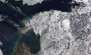 PILTUUDIS   NASA satelliit jäädvustas Eesti jäised olud