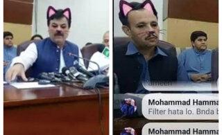 NALJAKAS KLÕPS | Tegijal juhtub! Pakistani valituse istungist tehtud ülekandes istusid kogemata saalis kassid
