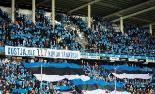 Jalgpallifännid kogusid Eesti jalgpalli toetuseks 78 000 eurot