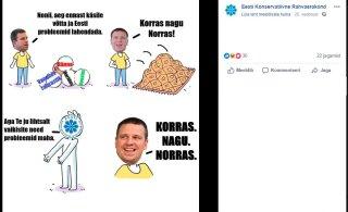 EKRE levitas veel tänaseni sotsiaalmeedias Keskerakonna vastaseid reklaame