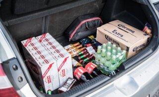 Soomlased ostavad Eestist rohkem alkoholi, ent suuri koguseid tuuakse endiselt Lätist