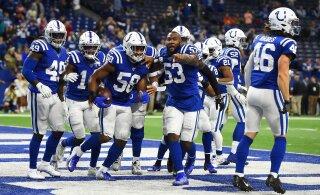 Hunt ja Colts purustasid Jaguarsi ning asusid juhtima divisjoni