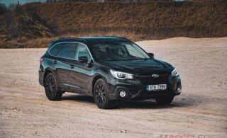 Haruldane külaline põhjavalguse radadelt: Subaru Outback Northern Lights