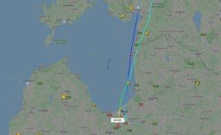 Самолет AirBaltic из-за технических проблем совершил разворот над Эстонией
