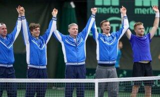 """Rahvusvaheline tenniseliit kukutas Eesti meeskonna omavoliliselt """"mudaliigasse"""""""