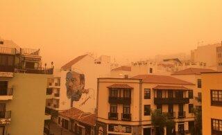ФОТО и ВИДЕО | На Канарских островах бушует небывалая песчаная буря из Сахары