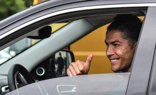 VIDEO | Multitalent Cristiano Ronaldo näitas, et korvpallikorv on tema sõber