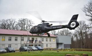 ГАЛЕРЕЯ | Эффектное появление! Олег Гросс прилетел в дом призрения на вертолете