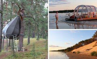 ФОТО | Едем в Юрмалу в гости к волшебнику: палатка на дереве, матрасы из ароматных трав и романтическая прогулка на чудо-плоту
