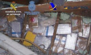 """В Испании """"накрыли"""" банду с 500 кг кокаина. Среди задержанных — эстонец"""
