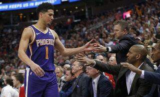 VIDEO | Devin Booker viskas 59 punkti, ent Suns sai Jazzilt suure kolaka