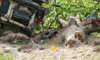 VIDEO ja FOTOD | Viljandimaal hukkus raskes liiklusõnnetuses veokijuht