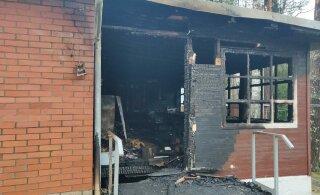 ФОТО: В Нарва-Йыэсуу горел дом при православном храме. В поджоге подозревают священника
