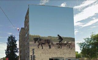 FOTO | Tallinna kesklinnas asuv maja saab supergraafikaga seinapildi
