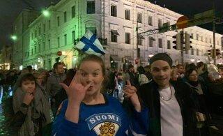 ВИДЕО: финские девушки празднуют победу своей сборной
