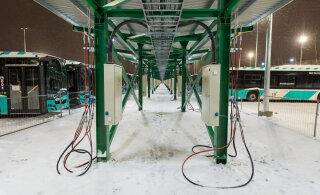 В автобусном парке на Питерском шоссе появилась газовая заправочная станция