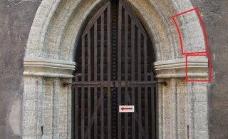 ФОТО | В ходе реставрации церкви Олевисте обнаружены фрагменты средневекового известнякового портала