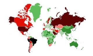 SUUR GRAAFIK | Millistes maailma riikides on koroonaviirus kontrolli all ehk kust Eestisse tulles pole karantiin vajalik?