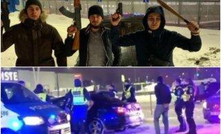 ВИДЕО | Ночью в районе Юлемисте разъезжал BMW, из которого палили в воздух