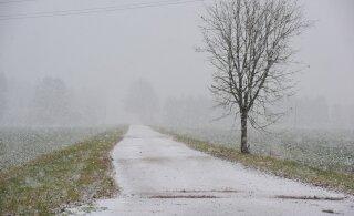 Ööl vastu homset on üle Eesti oodata lumesadu! Tegu on siiski vaid valge välgatusega sombuses talves