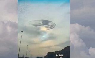 "ВИДЕО: Над Арабскими Эмиратами засняли ""небесный водоворот"""