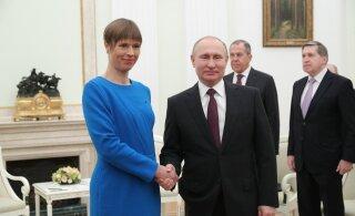 Putini memo kohtumiseks Kaljulaidiga: natsismi ülistamine on Eestis tõusuteel