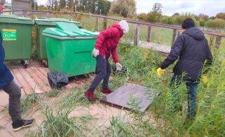 ФОТО и ВИДЕО: Ответственные граждане очистили Пярнуский пляж от мусора