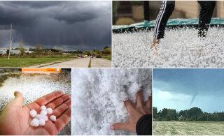 ФОТО читателей Delfi   В Эстонии выпал град, ожидаются грозы с сильным ветром