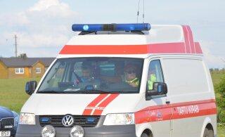 В Валга автомобиль сбил женщину и скрылся