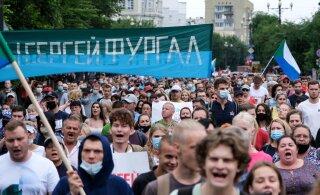 """100 дней: Хабаровчане продолжают митинговать и требовать освободить """"своего губернатора"""""""