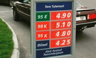 ФОТО и ТАБЛИЦА: Смотрите и удивляйтесь! Сколько стоил бензин на автозаправках Эстонии в 90-х и каковы были средние зарплаты