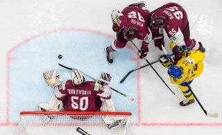 VIDEO | Läti oli jäähoki MMil lähedal rootslaste üllatamisele, peksupoiss Itaalia jäi kõrgemasse seltskonda