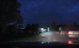 VIDEO | Vaata, kuidas politsei eest põgenenud mees auto hülgas ja Lämmijärve tormas