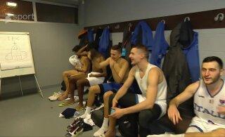 VIDEO | Itaalia korvpallikoondislased joonistasid pärast Eesti võitmist Saku Suurhalli riietusruumi suure peenise