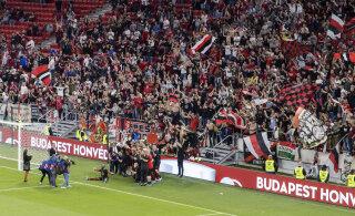 Ungari jalgpalli karikafinaalis ei järginud fännid eriolukorrareegleid