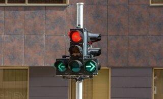 Ночью будут отключены светофоры на перекрестке Тартуского шоссе и улиц Пронкси и Лийвалайа