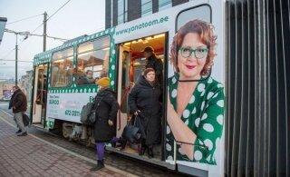 По Таллинну разъезжает трамвай с изображением Яны Тоом. Кылварт говорит, что все по закону
