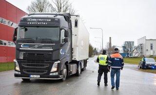FOTOD | Viljandis põrkas kokku kaks veokit. Süüdlane põgenes sündmuskohalt
