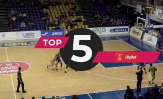 DELFI VIDEO | Eesti-Läti korvpalliliiga põhihooaja viimane TOP 5: esikohal Kalev/Cramo mehe võimas kulp