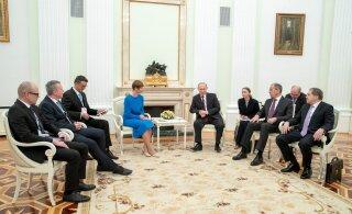 ГЛАВНОЕ ЗА ДЕНЬ: Встреча Керсти Кальюлайд с Владимиром Путиным и многочисленные комментарии по поводу этого исторического события