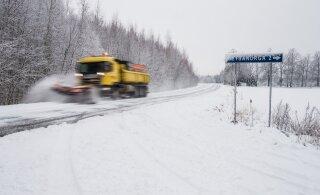 Ettevaatust! Lumesadu ja jäide muudavad teeolud keeruliseks