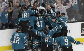 VIDEO   Võimsa tagasituleku teinud San Jose Sharks lülitas konkurentsist mulluse NHL-i finalisti