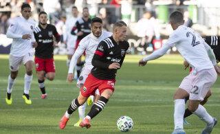 Positiivne koroonaproov lükkas D.C. Unitedi mängu edasi, viimasel hetkel kadus koosseisust just Erik Sorga