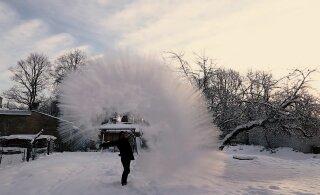 """В Валга установлен """"минусовой рекорд"""" этой зимы. На предстоящей неделе — снег и метель"""