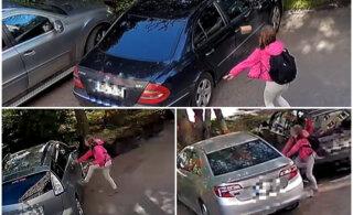 ВИДЕО | Удары ногами и броски кирпичами: в Пыхья-Таллинне пьяная девушка повредила семь машин
