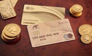 Otsid staatuse märki? Britid lasid välja luksusliku üle 21 000 euro maksva kullast pangakaardi