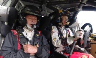 VIDEO | WRC-autoga lõbusõitu teinud Kalle Rovanperä pani isa hirmust värisema