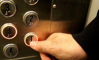 ФОТО | Известный эстонский диджей рекламирует свои услуги в лифте