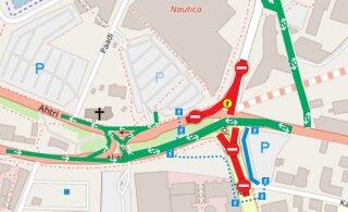 КАРТА: На перекрестке Ахтри и Йыэ в центре Таллинна начинается масштабный ремонт