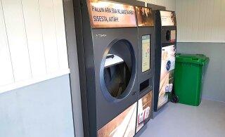 ВИДЕО | В Таллинне появился автомат приема тары нового поколения. Он сам сортирует бутылки и банки